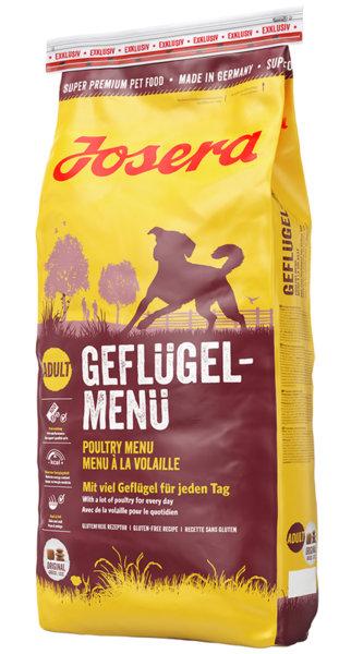 JOSERA POULTRY MENU суха храна за израснали кучета от всички породи - 15 кг